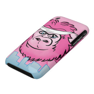 Pink Gorilla with Sweatband iPhone 3 Case