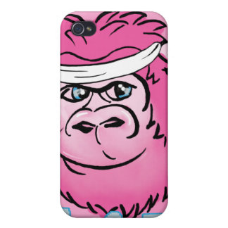 Pink Gorilla with Sweatband iPhone 4/4S Case