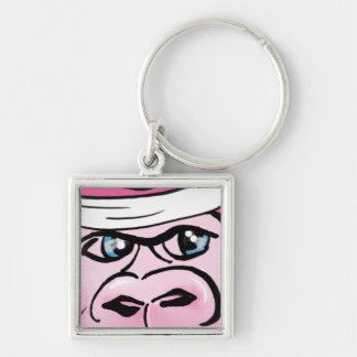 Pink Gorilla with Sweatband Keychain