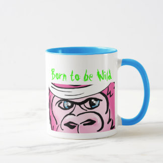 Pink Gorilla with Sweatband Mug