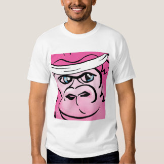 Pink Gorilla with Sweatband T Shirt