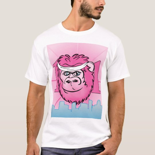 Pink Gorilla with Sweatband T-Shirt