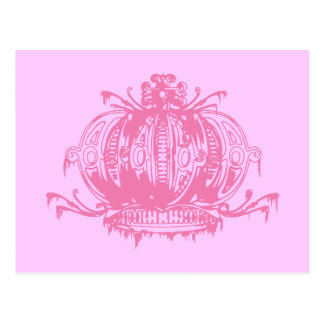Pink Gothic Lolita Decayed Crown Postcard