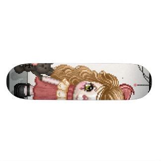 Pink Gothic Love Doll Pixel Art Skate Deck