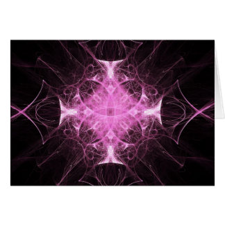 Pink Gothic Princess Fractal Greeting Card