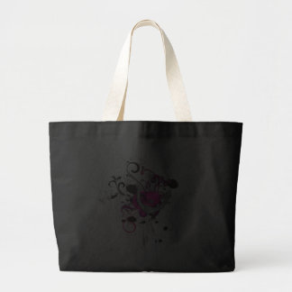 pink gothic skull and anchor vector art design jumbo tote bag