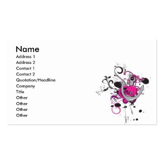 pink gothic skull and anchor vector art design Double-Sided standard business cards (Pack of 100)