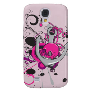 pink gothic skull and anchor vector art design samsung galaxy s4 covers