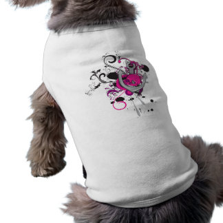 pink gothic skull and anchor vector art design dog tee