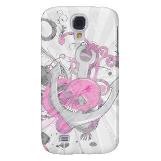 pink gothic skull and anchor vector art design samsung s4 case