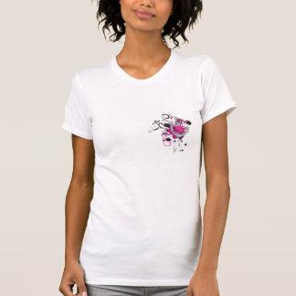 pink gothic skull and anchor vector art design tshirt