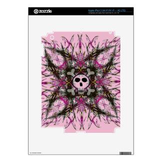 Pink Gothic Skull iPad 3 Decals