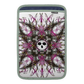 Pink Gothic Skull Sleeve For MacBook Air