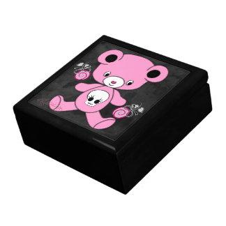 Pink Gothic Teddy Bear Jewelry Box
