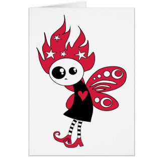 Pink Gothic Xmas Fairy Card