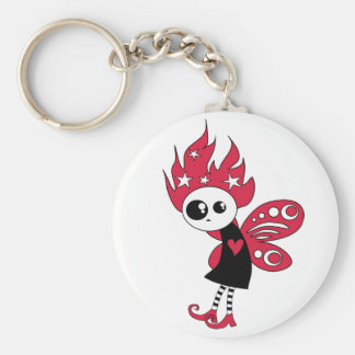 Pink Gothic Xmas Fairy Key Chain