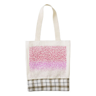Pink gradient abstract pattern. zazzle HEART tote bag