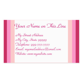 Pink Gradient Double-Sided Standard Business Cards (Pack Of 100)