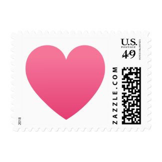 Pink gradient heart love or Valentines day stamp