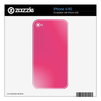Pink Gradient Pattern Skin For iPhone 4S