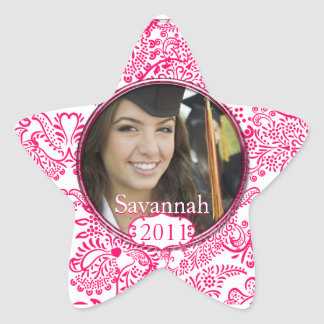 Pink Graduation or Sweet Sixteen Photo Stickers