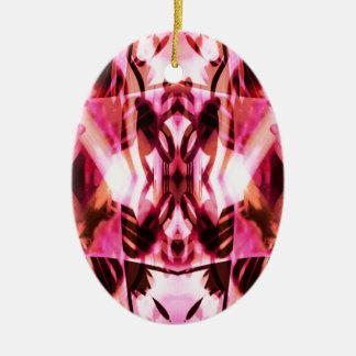 Pink graffiti pattern ceramic ornament