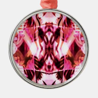 Pink graffiti pattern metal ornament