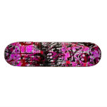 Pink Graffiti Skull Skateboard Deck