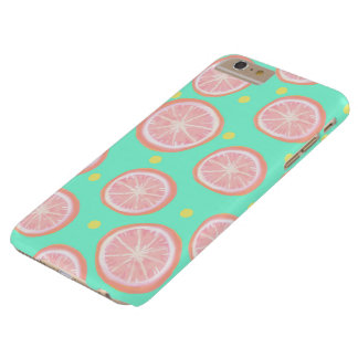 Pink Grapefruit and Dots Barely There iPhone 6 Plus Case