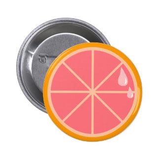 Pink Grapefruit Button