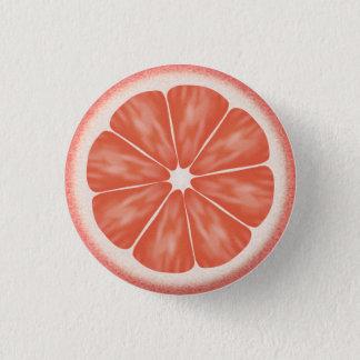 Pink Grapefruit Citrus Fruit Slice Pinback Button
