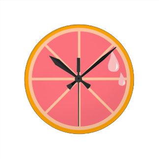 Pink Grapefruit Clock