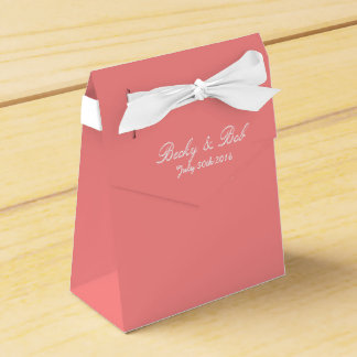Pink Grapefruit Colored Favor Box