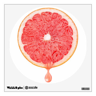 Pink grapefruit juice wall decal