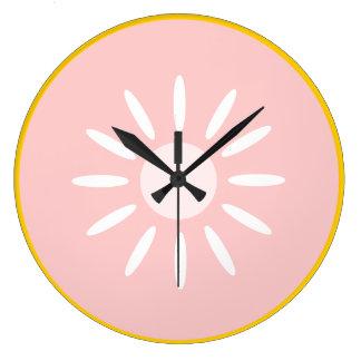 Pink Grapefruit Large Clock