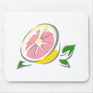 Pink Grapefruit Mouse Pad