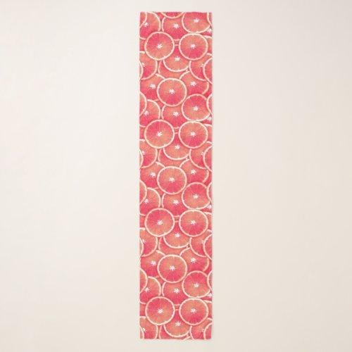 Pink Grapefruit Slice Digital Montage Scarf