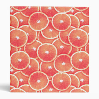 Pink grapefruit slices 3 ring binder