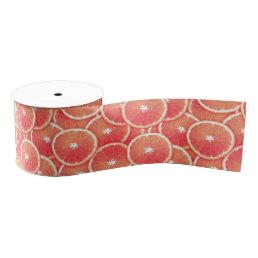 Pink grapefruit slices grosgrain ribbon