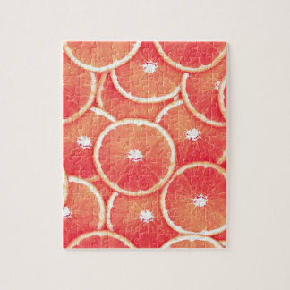 Pink grapefruit slices jigsaw puzzle