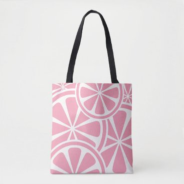 Beach Themed Pink Grapefruit Slices Summer Tote Bag
