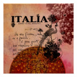 Pink Grapes Italia Posters