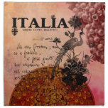 Pink Grapes Italia Printed Napkin