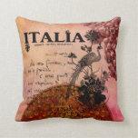 Pink Grapes Italia Throw Pillows