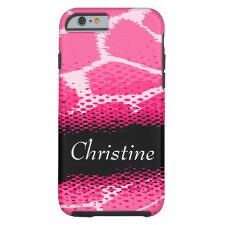 Pink graphic animal print case tough iPhone 6 case