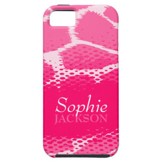 Pink graphic animal print iphone 5 case