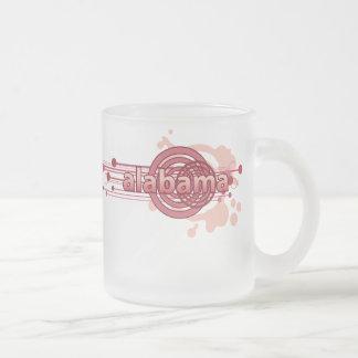 Pink Graphic Circle Alabama Mug Glass