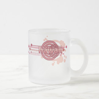 Pink Graphic Circle Hawaii Mug Glass