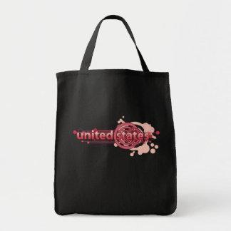 Pink Graphic Circle United States Tote Bag