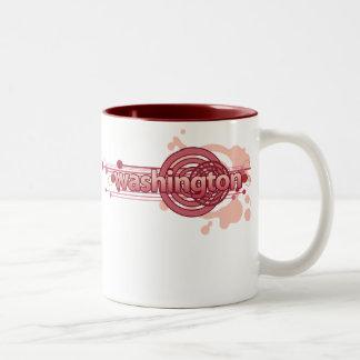 Pink Graphic Circle Washington Mug
